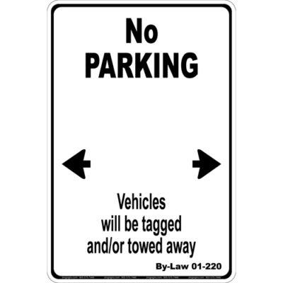 No Parking Text